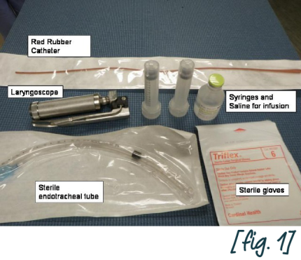 Required materials for endotracheal wash